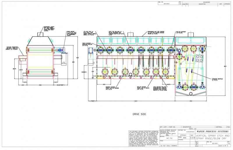 conveyorized web etch system sheet